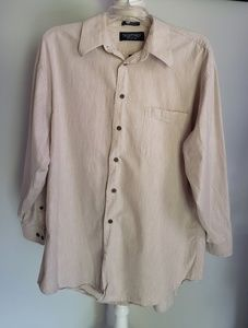 Vtg Stafford relaxed fit long sleeve western shirt